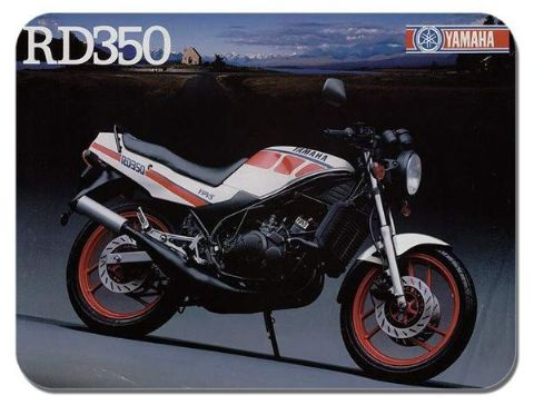 Vintage RD350 YPVS Brochure Mouse Mat. Classic Motorcycle Ad Motorbike Mouse Pad